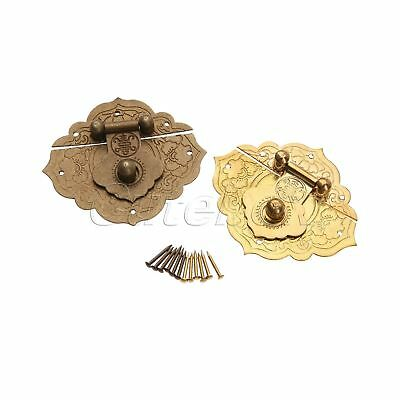 China Old Lock Latch Butterfly Buckle Clasp For Vintage Cabinet Jewelry Box PC