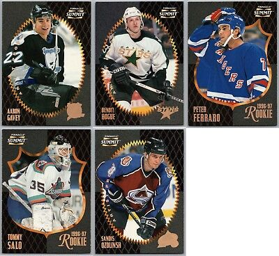 1996-97 Summit Artist's Proofs Insert Cards- Finish Your Set - Pick Your Singles