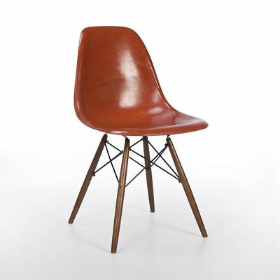 Terracotta Herman Miller Original Vintage Eames DSW Dining Side Shell Chair