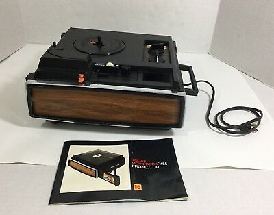 KODAK Moviedeck 455 Super 8 & 8 MM Projector With Manual Tested GC