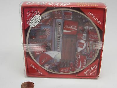 BRAND NEW!COCA COLA The Eras Of Coke COLLECTOR'S EDITION MINI PLATE 1970-1980