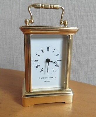 Miniature Swiss Made Carriage Clock By Matthew Norman London Circa 1980