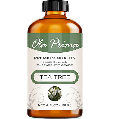 Tea Tree Essential Oil - Multiple Sizes - 100% Pure - Amber Bottle + Dropper
