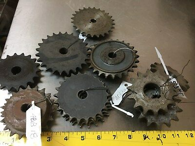 Boston Gear Steel Sprockets, LARGE LOT FULL BOX - Metal Art, Steampunk,Inds. NOS