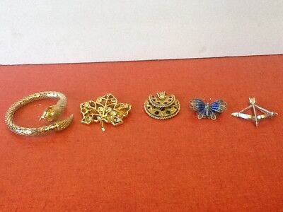Estate Jewlery lot of 5 Vintage Assorted Pieces