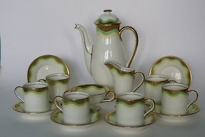 Royal Doulton ART DECO Coffee Service for 6 - V1183 VALERY dating to around 1932