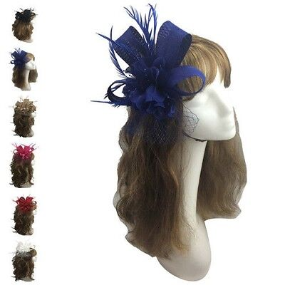 Women & Ladies Races Royal Ascot Occasions Flower Bow Feather Wedding Fascinator