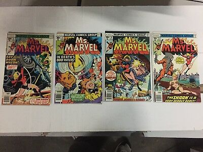 MS. MARVEL Collection Lot (4 Diff Comics 1970'S), FREE SHIPPING, Read !