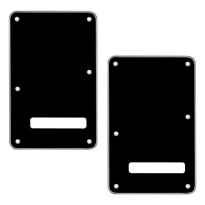 2Pcs Black Guitar Tremolo Cover Back Plate for Fender Strat ST Replacement 3 Ply