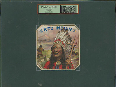c. 1900 Vintage Outer Cigar Label Red Indian Brand GCLGS Archived