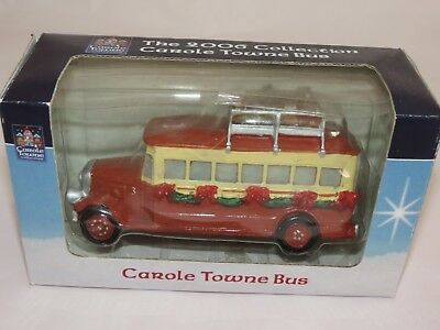 New Lemax 2006 Carol Towne Collection Bus New In Box Village Accessory