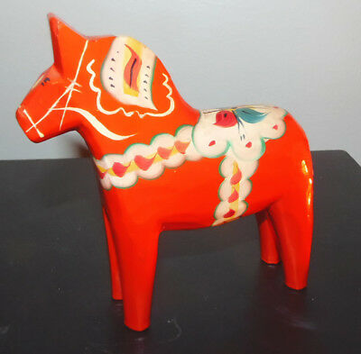 Swedish Red Dala Horse 5-1/4 inch size - Very good condition!