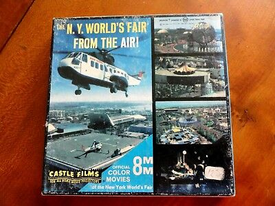 NY World's Fair From the Air 8mm Color Movie by Castle Films 1961