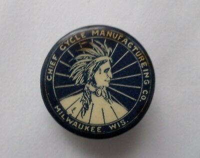 Antique Chief Cycle Manufacturing Co. Milwaukee Wi Pin