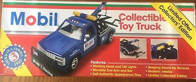 1995 Mobil Gas Collectible Toy Tow Truck ~ Limited Edition ~ New In Box