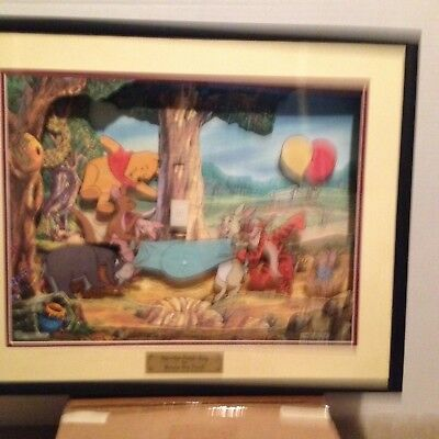 Animated Animations Of Walt Disney's Winnie the Pooh Hip-Hip-Pooh-Ray LE Art Cel