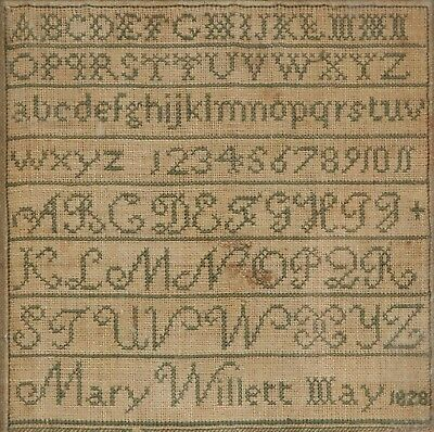 Early Ipswich, Mass Needlework Sampler