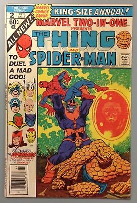 MARVEL TWO IN ONE # 2 Amazing Spider Man THANOS Bronze Age 1973 MARVEL Comic