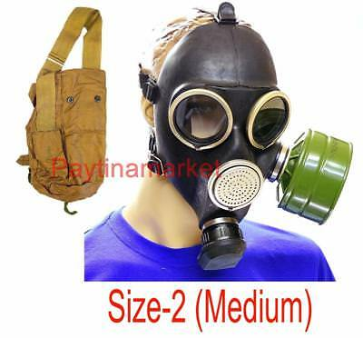 Soldier GAS MASK GP-7 Russian Army Military Mask Filter Bag Size-2 USSR Uniform