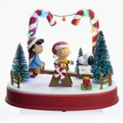 """Peanuts Animated Musical 8 3/4"""" LED Winter Holiday Statue FREE SHIPPING"""