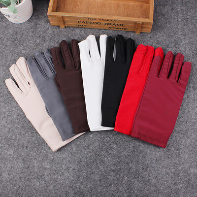 High elastic spandex jewellery gloves show etiquette sunscreen cotton thin work