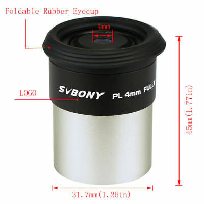 1.25''/31.7mm 4mm Plossl Eyepiece Lens Fully Multicoatedr Telescope US Shipping