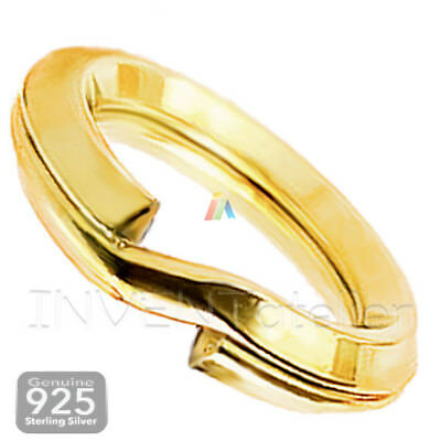 925 Sterling Silver GOLD Plated Double Split Jump Rings 5 6mm Jewellery Making