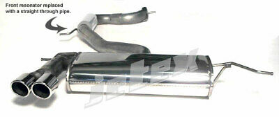 """VW Scirocco MK3 2.0TSI R GTS  Jetex 3"""" Cat back Exhaust Non Res + Twin Tips 80mm"""