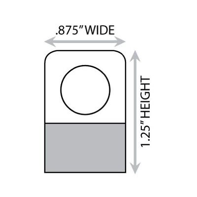"""1-1/4"""" X 7/8"""" Round Hole Adhesive Hang Tabs 1000/Pack Other Retail Labeling"""