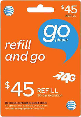 AT&T - AT&T Prepaid $45 Refill Top-Up Prepaid Card , Air-time Card PIN fast