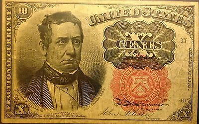 1874 10 Cent US Obsolete Fractional Currency Very Nice Note LOOK!