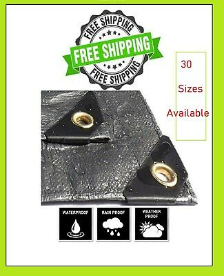 Heavy Duty  Poly Tarp Cover -Thick Waterproof, UV Resistant , Free Shipping