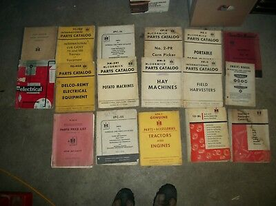 17 Vintage International Harvester Parts Manuals Lot