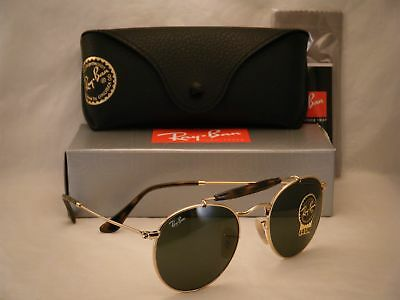 a8040a5e77 RAY BAN 3747 Gold w Green Crystal (G-15) Lens NEW sunglasses (RB3747 ...