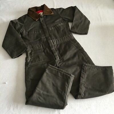Vintage Key Imperial Kid's Green Insulated Coveralls Jumpsuit--Youth 6 SMALL GUC