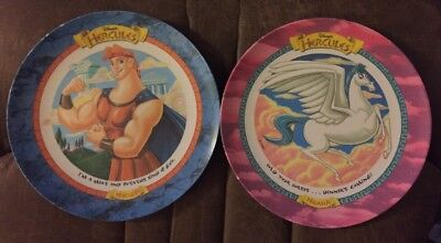 Mcdonalds 1997 Disney Collectible Pair Hercules And Pegasus Plates