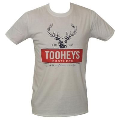 T Shirt Tooheys Brothers MENS WHITE ALL SIZES S TO 3XL new Logo Beer