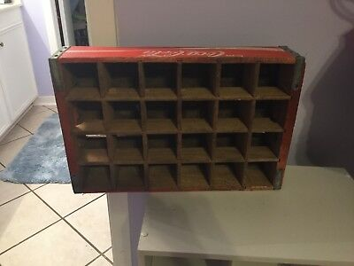 Vintage Wooden 24 Holder Coca Cola Case