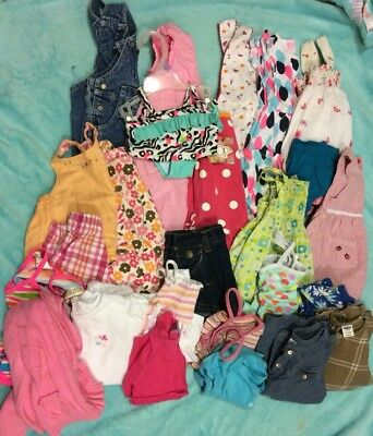 Baby Girls Spring Summer Dresses Rompers Outfit Sz 12/18 Months Lot of 25 Easter
