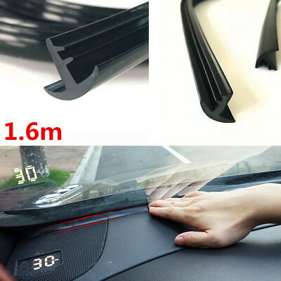 Rubber 1.6m Soundproof Dustproof Sealing Strip for Auto Dashboard Windshield