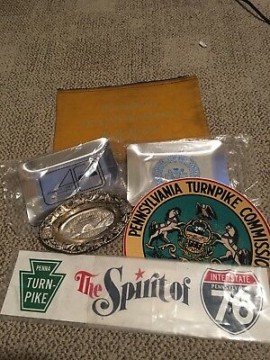 Pennsylvania Turnpike Memorabilia - Daily Report Bag Stickers Dish - Originals
