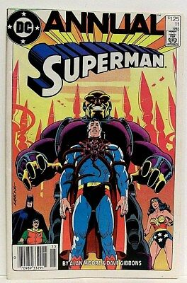 """""""SUPERMAN"""" ANNUAL # 11 (1985) f. WONDER WOMAN, by ALAN MOORE and DAVE GIBBONS"""