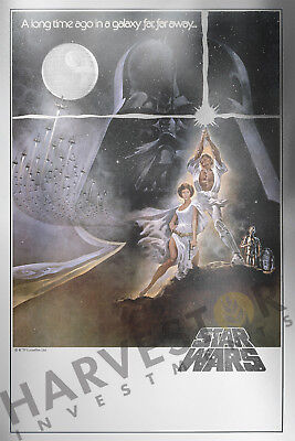 2018 Star Wars: A New Hope -  Premium Silver Foil 35 Grams - Solid Silver Poster