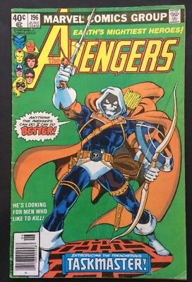 Avengers #196 1st App. Taskmaster FR/GD Key Bronze Age Marvel Comic Book