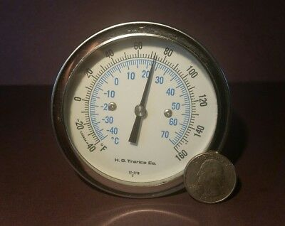 H. D.TRERICE DIAL INDUSTRIAL THERMOMETER -40 to +160 DEG. F. - Part # 52-2776