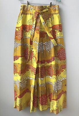 Vtg 60s 70s NOS Never Worn Alex Colman Maxi Skirt Psychedelic Abstract Print