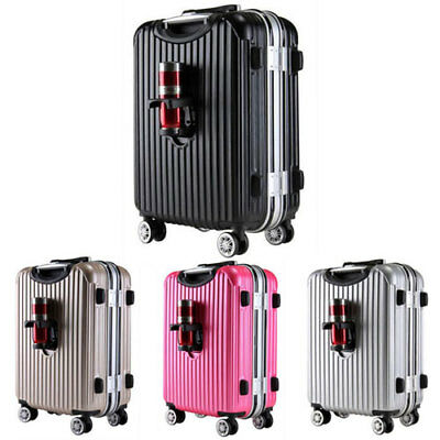 US Ship Aluminum Frame Luggage Travel ABS Trolley Spinner Suitcase Expandable