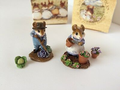Wee Forest Folk HOE JOE & PATIENT LUCY Store SPECIAL Set, RARE 1/100 - MINT