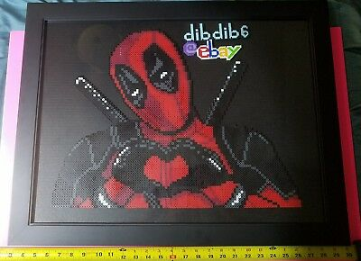Deadpool picture frame kandi perler art DC comic