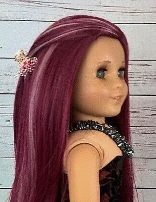"""10-11 Custom Doll Wig fit Blythe-American Girl-1/4 Size """"Frosted Cupcake"""" bn3"""